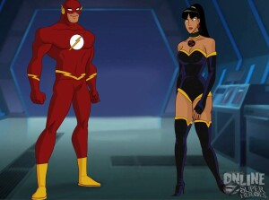 Goodcomix Justice League - [Online SuperHeroes][Max] - The Flash Enjoys Lightning Fast Anal Sex With A Fellow Justice League Member!