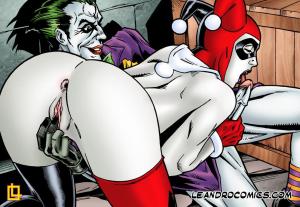 Goodcomix Batman - [Leandro Comics] - Harley Endures The Onslaught of Joker's Endless Erection