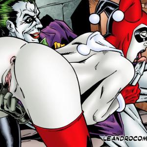 Batman - [Leandro Comics] - Harley Endures The Onslaught of Joker's Endless Erection