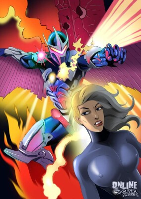Goodcomix Marvel Universe & Marvel Comics - [Online SuperHeroes] - Hot Blonde Lets Darkhawk Do Each and Every Hole In Her!