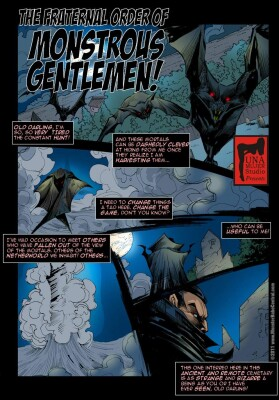 Goodcomix Crossover - [MonsterBabeCentral] - The Fraternal Order of Monstrous Gentlemen! - Issue 1 - Old Friend