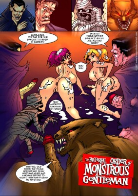 Goodcomix Crossover - [MonsterBabeCentral] - The Fraternal Order of Monstrous Gentlemen! - Issue 4 - Banquet
