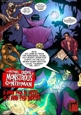Goodcomix Crossover - [MonsterBabeCentral] - The Fraternal Order of Monstrous Gentlemen! - Issue 5 - Swamp Monster