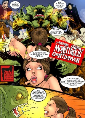 Goodcomix Crossover - [MonsterBabeCentral] - The Fraternal Order of Monstrous Gentlemen! - Issue 6 -  Five dicks