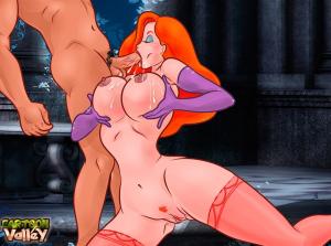 Goodcomix Who Framed Roger Rabbit - [CartoonValley][NEW] - Jessica Rubs Man's Balls Between Her BIG Boobs & Sucks His Dick