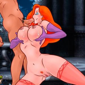 Who Framed Roger Rabbit - [CartoonValley][NEW] - Jessica Rubs Man's Balls Between Her BIG Boobs & Sucks His Dick