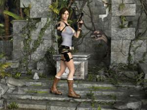Goodcomix Tomb Raider - [Sasha2000Dog][Detomasso] - Lara and Nathan Jurassic Stone Park