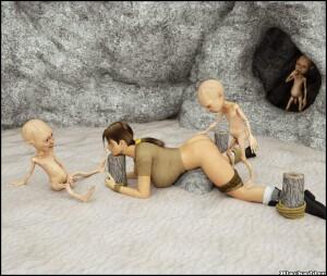 Goodcomix Crossover - [Sasha2000Dog] - Lara in Captivity of Small Gollums