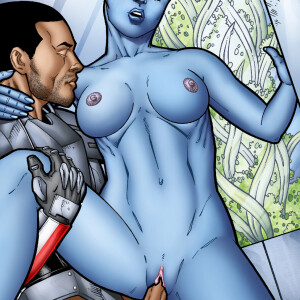 Mass Effect - [Leandro Comics] - Liara and Shepard Get It On In Her Bedroom!