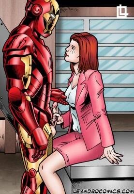 Goodcomix Iron Man - [Leandro Comics] - Pepper Potts Sucks Iron Man's Little Iron Man!