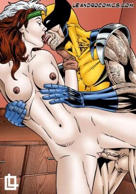 Goodcomix X-Men - [Leandro Comics] - Rogue Fucked Hard By Wolverine