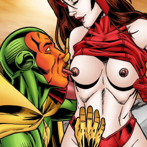 Marvel Universe & Marvel Comics - [Leandro Comics] - Scarlet Witch Has Kinky Sex With The Vision
