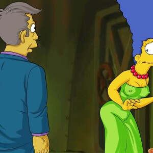 The Simpsons - [Comics-Toons] - Seymour Skinner Has Fun With Marge