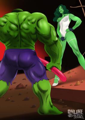 Goodcomix The Incredible Hulk - [Online SuperHeroes] - She-Hulk Gets Intense Fucking From Hulk