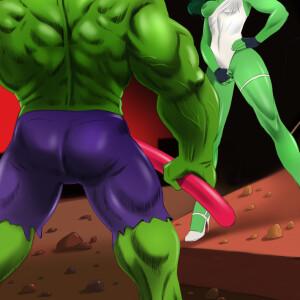 The Incredible Hulk - [Online SuperHeroes] - She-Hulk Gets Intense Fucking From Hulk