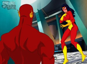 Goodcomix Crossover Heroes - [Online SuperHeroes][Max] - Spiderwoman Gets A Swift, Hot Fuck From Flash!