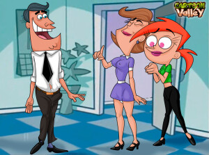 Goodcomix The Fairly OddParents - [CartoonValley][NEW] - Mr. and Mrs. Turner From Fairy Odd Parents Banging The Babysitter!