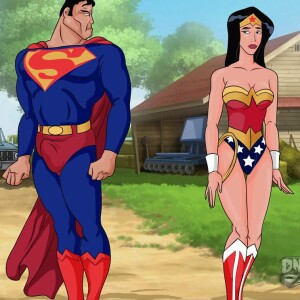 Justice League - [Online SuperHeroes][Max] - Wonder Woman And Superman Enjoy A Hardcore Countryside Fuck Together!