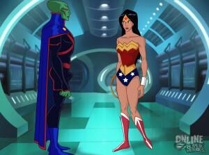 Goodcomix Justice League - [Online SuperHeroes][Max] - Wonder Woman Enjoys An Intense Alien Fuck With The Martian Manhunter!
