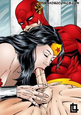 Goodcomix Justice League - [Leandro Comics] - Wonder Woman Sucking Flashs Cock