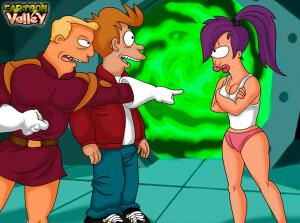 Goodcomix Futurama - [CartoonValley][NEW] - Zapp, Leela and Fry From Futurama in a Steamy Threesome