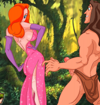 Crossover - [CartoonValley][NEW][TitFlaviy] - Jessica Rabbit Wild Sex With Tarzan